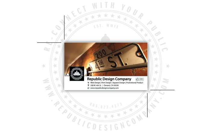 NEW Republic Design Company/Facebook Business Card Front Digital Proof