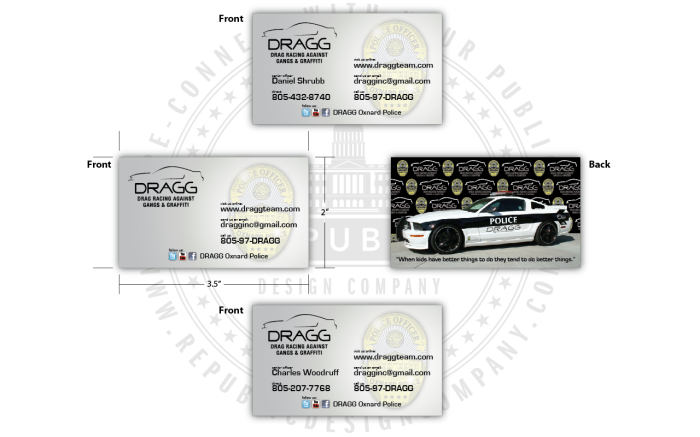 DRAGG Oxnard Police Business Card Digital Proof