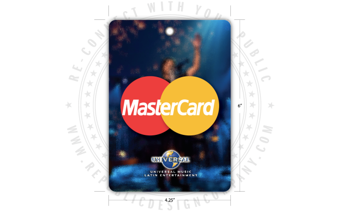 Universal Music Latin Entertainment + Mastercard + Juanes + MTV Unplugged credentials back