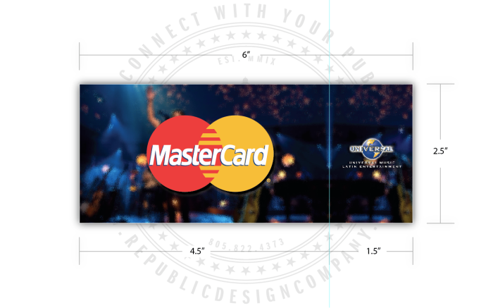Universal Music Latin Entertainment + Mastercard + Juanes + MTV Unplugged ticket (w/stub) back