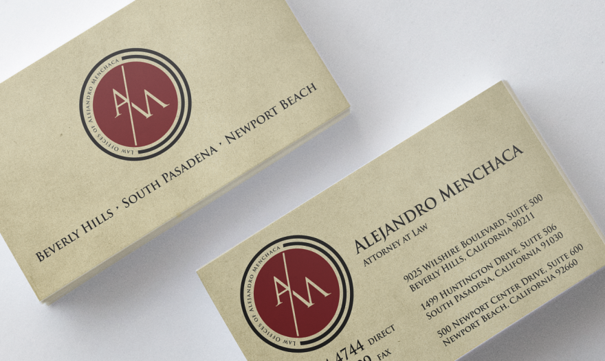 Law Offices of Alejandro Menchaca Business Cards